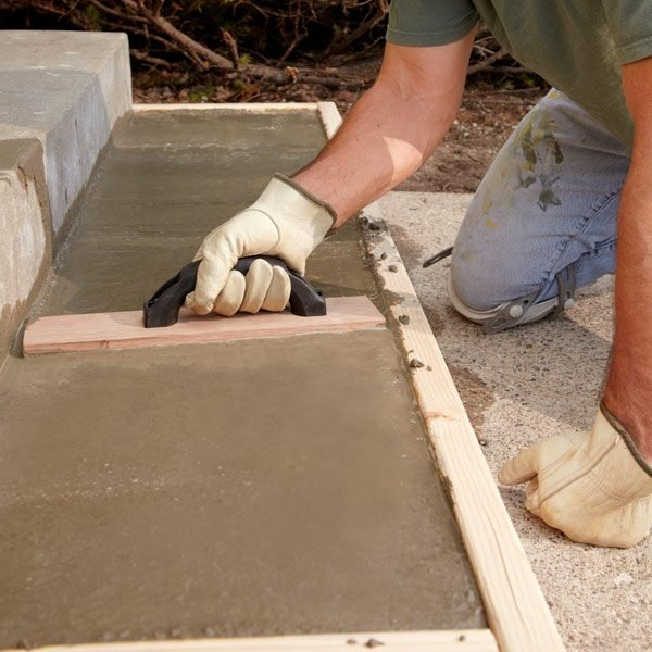 Repair or replace pouring concrete steps the family for Cleaning concrete steps