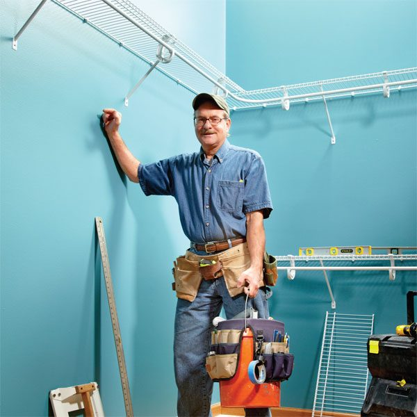 How To Install Wire Shelving The Family Handyman