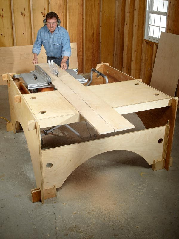 Diy table saw table the family handyman for Table saw table plans