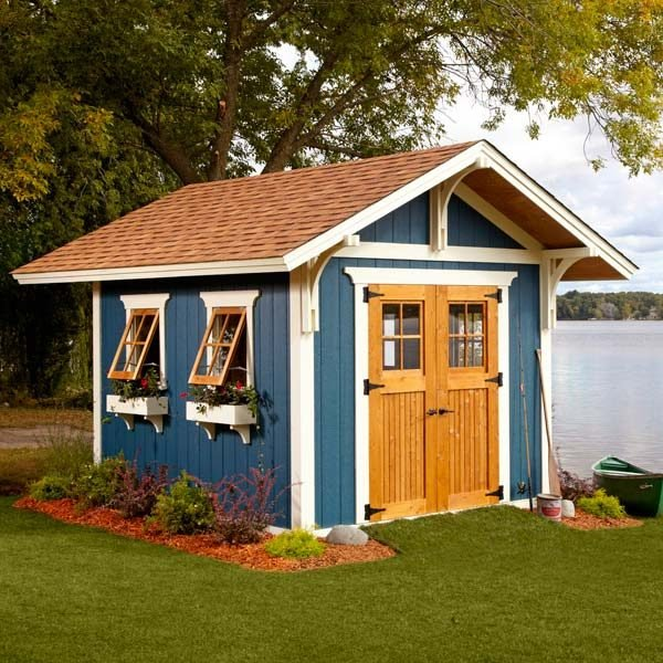 Shed plans storage shed plans the family handyman for Two storage house designs