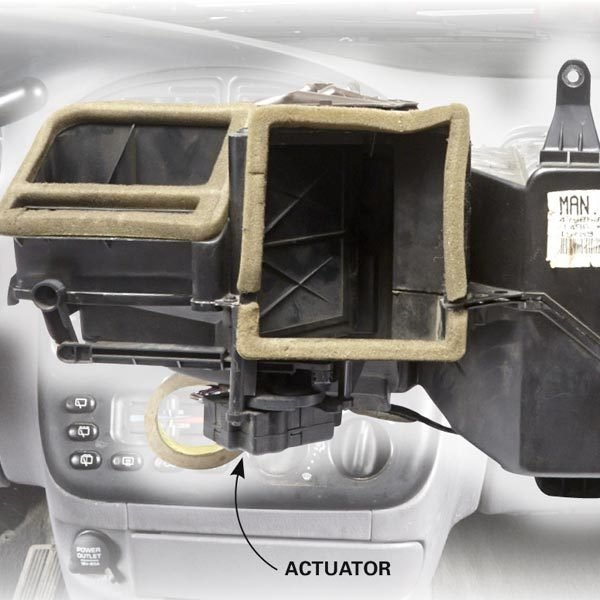 Car Heater Blowing Cold Air Check The Actuator The
