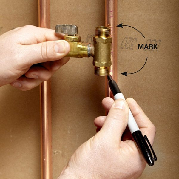 Install A Valve For An Icemaker The Family Handyman
