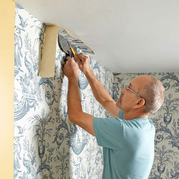 how to wallpaper the family handyman