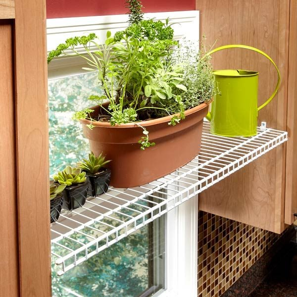 Kitchen Window Plant Shelf: The Family Handyman