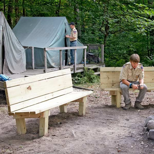 How To Build A Campfire Bench The Family Handyman