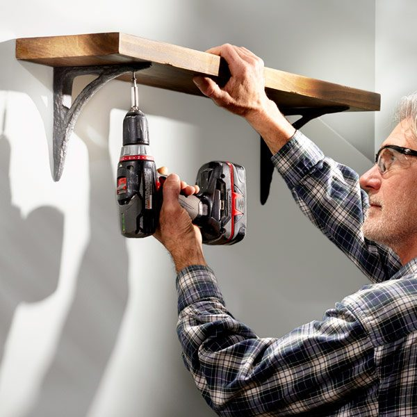How To Hang Shelves The Family Handyman