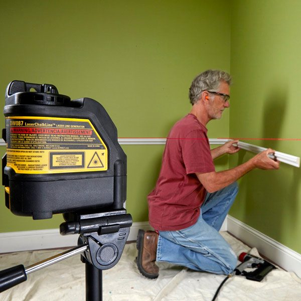 how to use a laser level the family handyman. Black Bedroom Furniture Sets. Home Design Ideas