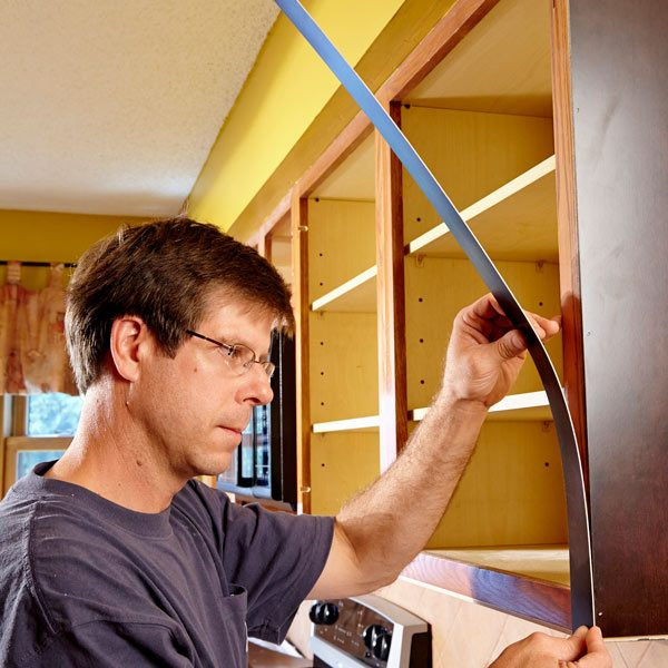 Cabinet refacing the family handyman for Refacing kitchen cabinets materials