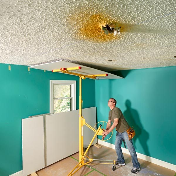 Why Remove Popcorn Ceiling When You Can Cover It With Drywall : The Family Handyman