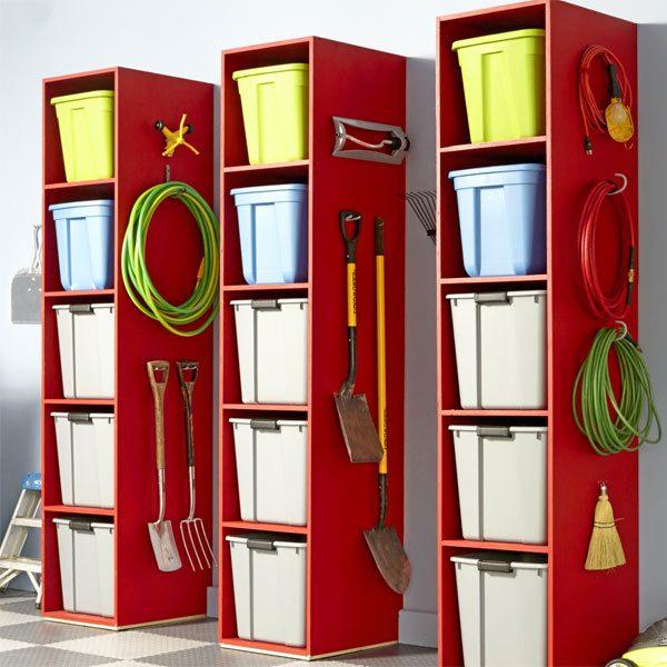 Diy Garage Storage Ideas Projects: Garage Storage Tower