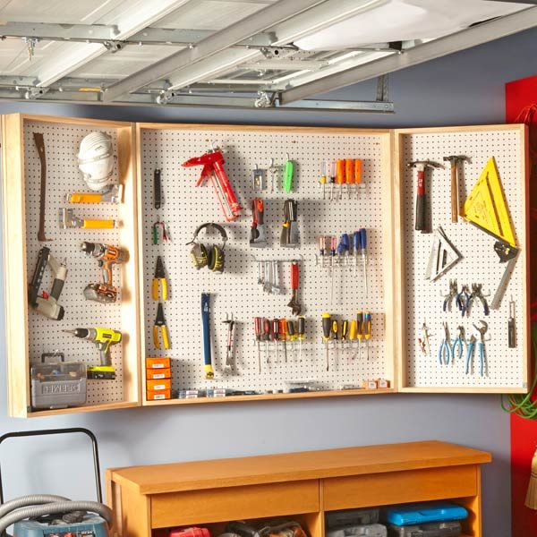 Pegboard Wall Cabinet Plans