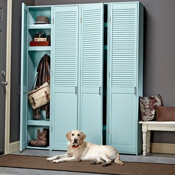Neaten up your mudroom with these simple, hide-the-mess lockers