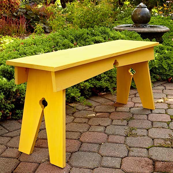 Diy Bench North Woods Style The Family Handyman
