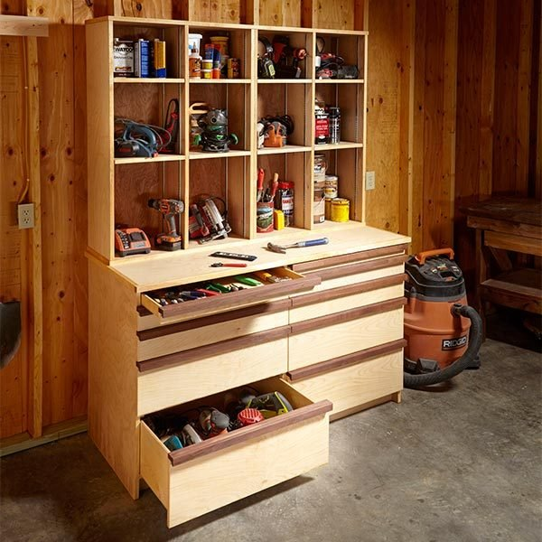 Ultimate tool storage cabinets the family handyman for Online shelf design tool