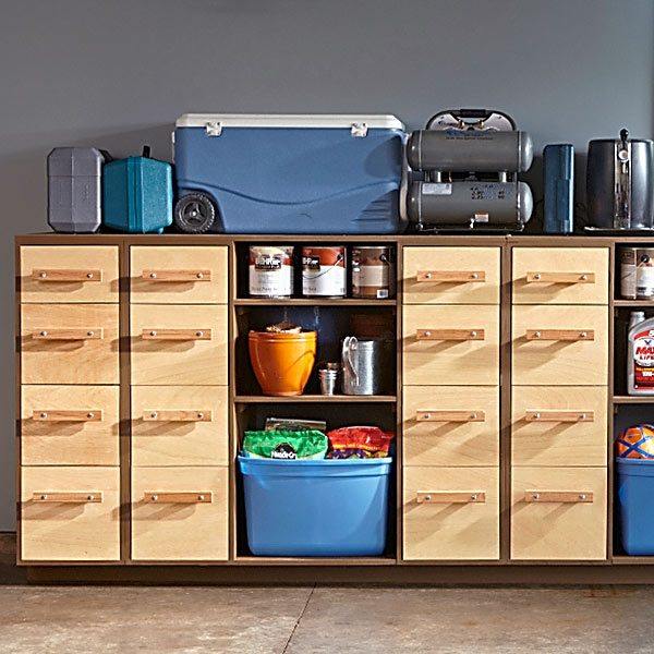 Garage Organization Shelving: DIY Garage Storage: Super Sturdy Drawers