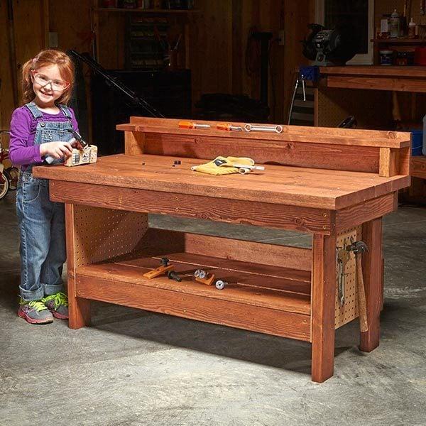 Diy Workbench Upgrades: Mini Classic DIY Workbench For Kids