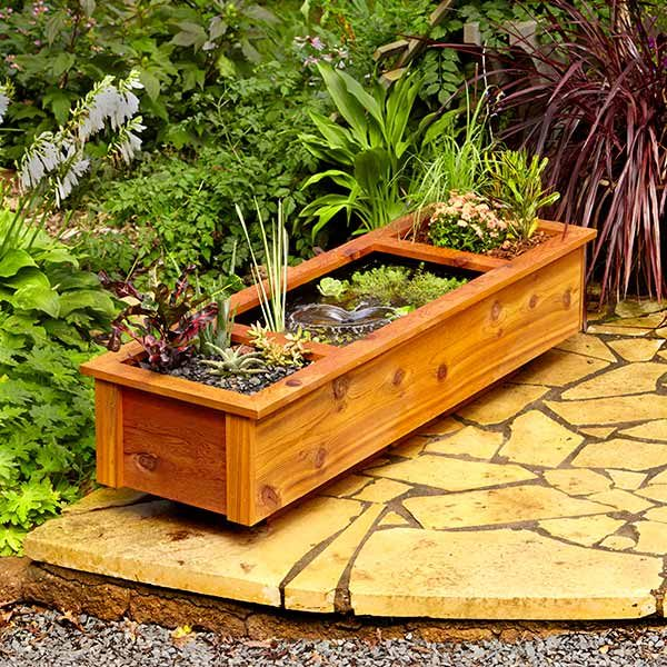 one day diy patio garden pond: diy patio pond