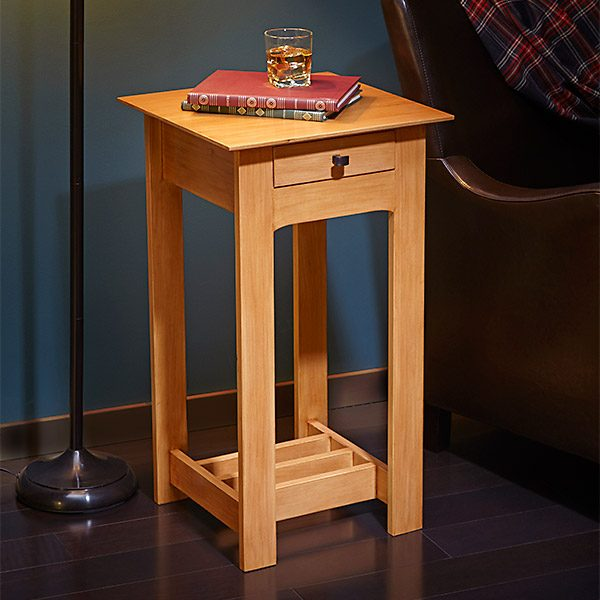 Simple rennie mackintosh end table plans the family handyman for Latest side table designs
