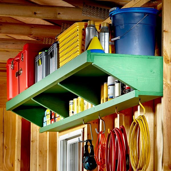 You can make your own DIY shelves for the garage easily go double decker  for twice the storage capacity. Garage Storage   The Family Handyman