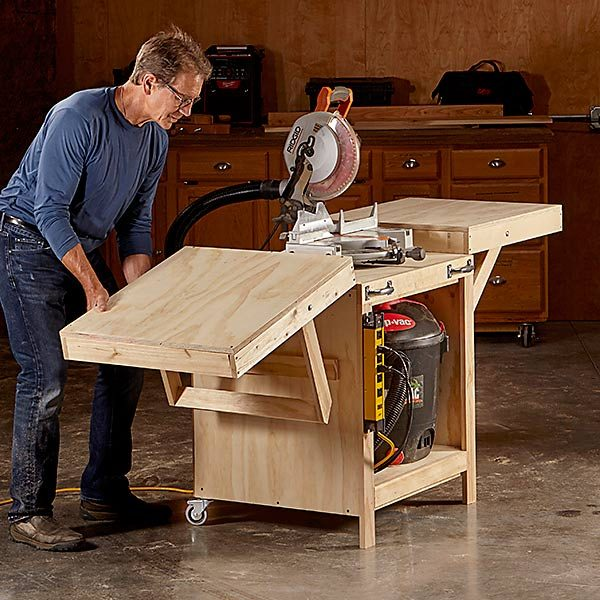 Convertible Miter Saw Station Plans | The Family Handyman
