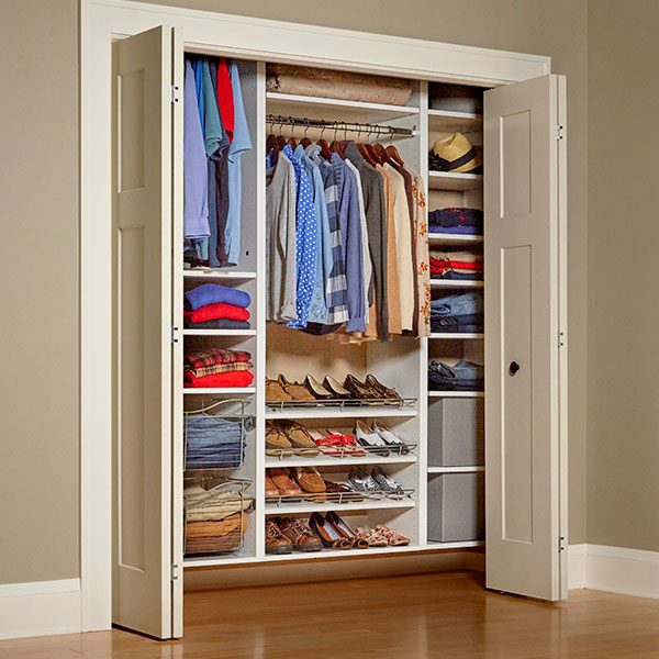 Do It Yourself Home Design: Build Your Own Melamine Closet Organizer