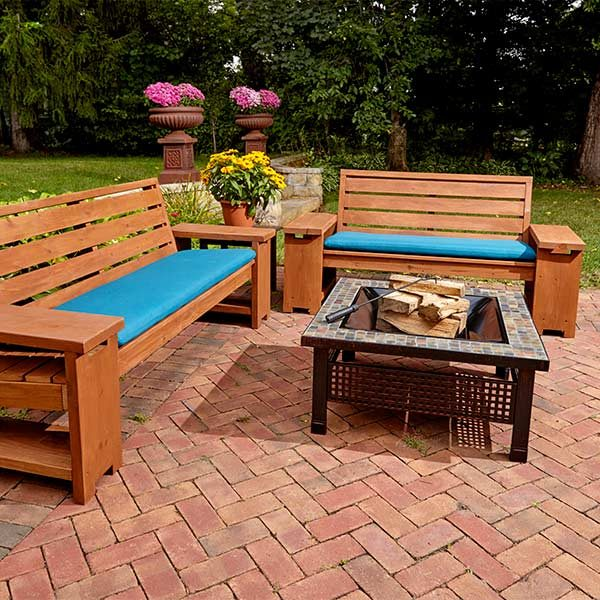 Perfect Patio Combo: Wooden Bench Plans With Built-in End ...