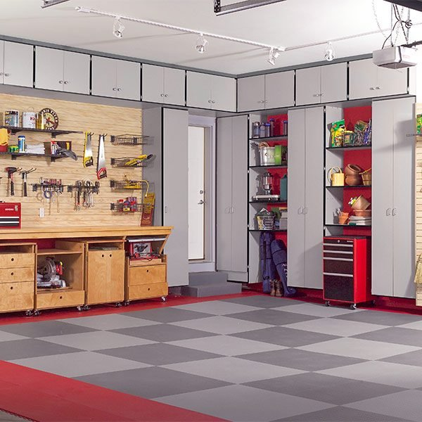 Build the ultimate garage cabinets yourself the family handyman - Cost to build a garage yourself ...