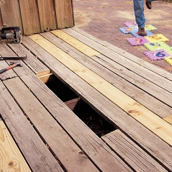Replacing Deck Boards The Family Handyman