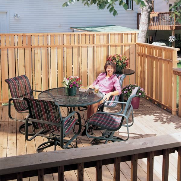deck privacy fence the family handyman