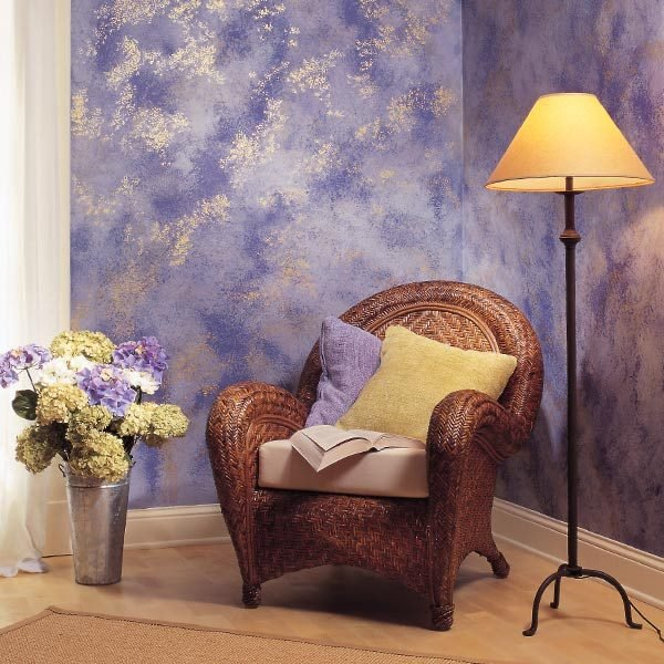 sponge painting is a quick simple way to make dull interior walls. Black Bedroom Furniture Sets. Home Design Ideas