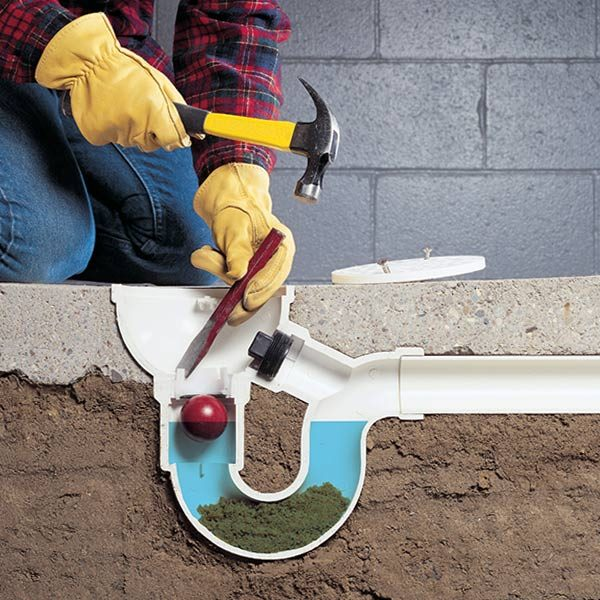 How to unclog a drain the family handyman for How to clean a garage floor without water