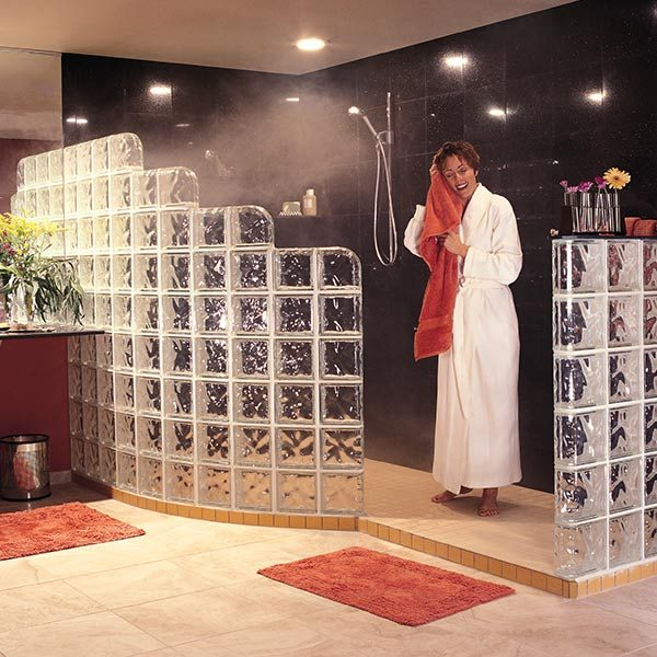 How To Install A Glass Block Shower The Family Handyman