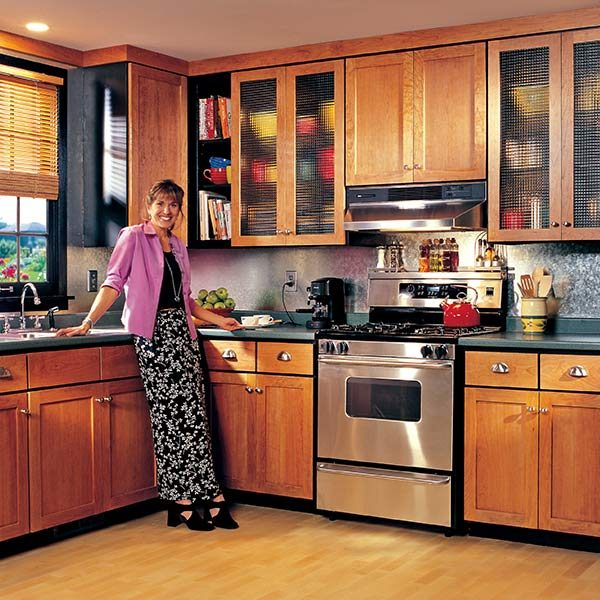 How to refinish kitchen cabinets the family handyman for Automatic kitchen cabinets