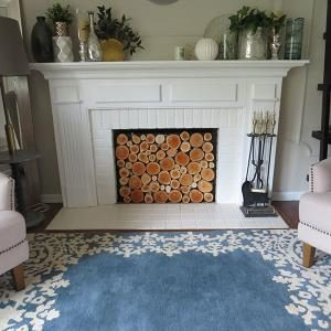 how to build a wood log faux fireplace insert the family