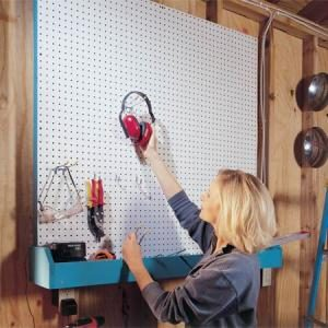 Garage Storage Projects: Pegboard Storage and Bin