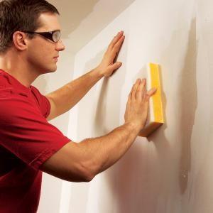 Wet-Sanding Drywall