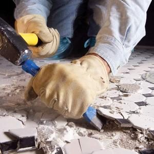 Remove Ceramic Tile From a Concrete Floor