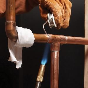 Soldering Copper Pipe Natural Gas