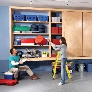 Giant diy garage cabinet the family handyman - Modern garage storage systems for clean view ...