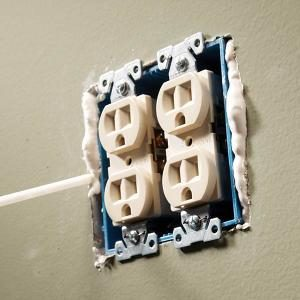 Close Gaps Around Electrical Outlets and Switches