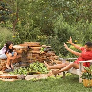 Build a Backyard Waterfall in One Weekend