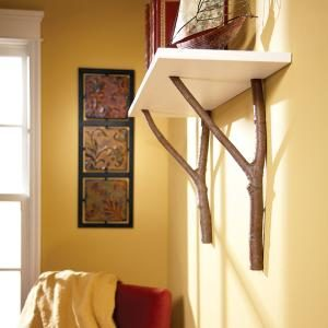How to Make a Cottage Shelf with Branches