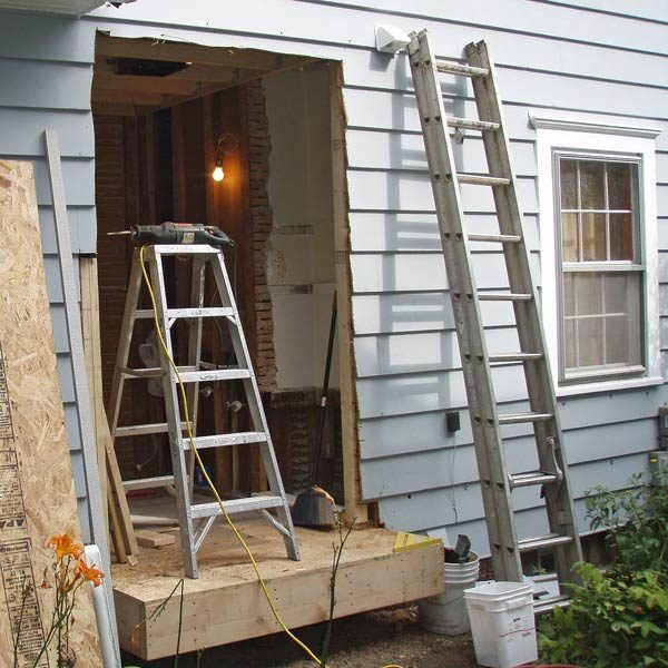Bump out addition the family handyman for Building an entryway addition