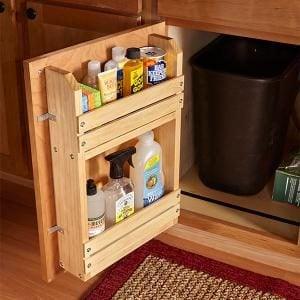 Cabinet Door Storage Rack The Family Handyman