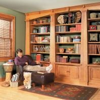 How To Change Upper Kitchen Cabinets Into A Bookcase