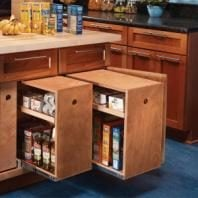 Build Organized Lower Cabinet Rollouts For Increased Kitchen Storage.  Vertical ...