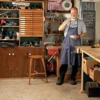 Family Handyman Editor in Chief Ken Collier in his woodshop.