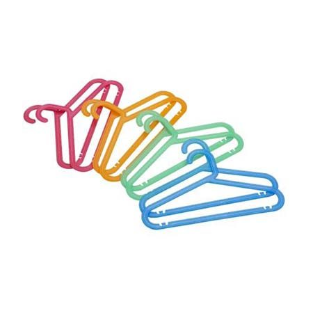 "<b>Sort Clothing by Hanger Color</b></br> Buy different colored hangers to sort clothing by child in shared closets, by season, or activity (school, play, church, etc.). Keep a reminder for children handy on the closet wall by printing the category name on a coordinating color sheet of paper so they know which hangers to choose from. This <a href=""http://www.ikea.com/us/en/catalog/products/30024716/"" title=""Bagis Children's coat hanger"" target=""_blank"">Bagis children's hanger set</a> from Ikea is a good starting place."
