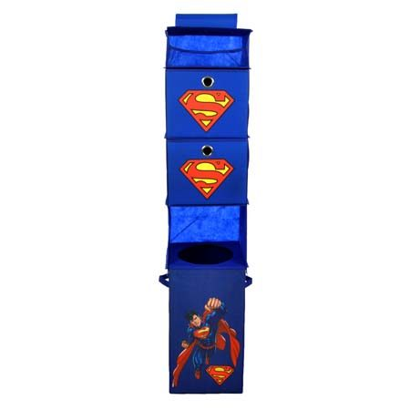 "<b>Get Accessories Featuring Favorite Characters</b></br> Catch your child's attention and keep their interest by organizing with their beloved characters, like this <a href=""https://www.wayfair.com/Superman-Blue-Closet-Hanging-Organizer-2-Storage-Bins-SUPSTLA301-MDLI1132.html"" title=""Superman Hanging Organizer"" target=""_blank"">Superman hanging organizer</a> for example. This approach might keep your child engaged and less likely to make a mess. Superman always hangs up his cape, right?"