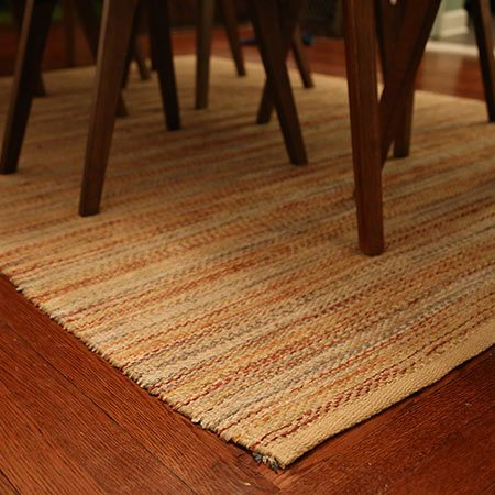 <b>Stylish Floor Savers Protect Hardwood</b></br> <p>In order to avoid dirtying your hardwood floors in the first place, clean and prep with any of the solutions above, and then carefully place rugs in high traffic areas (think dining room, living room under a coffee table, etc.). However, be sure to regularly clean underneath the rugs and move them occasionally to avoid uneven wear on your floors from sunlight.</p>